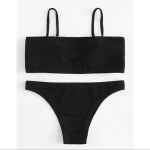 ✿ Ribbed Black Bikini Set ✿